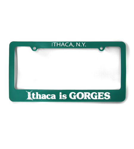 Ithaca is GORGES License Plate Cover