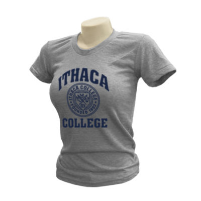 Ithaca College Retro Tri-Blend Ladies T-Shirt