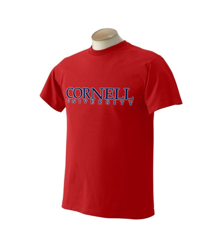 Cornell University Forced-Text T-Shirt