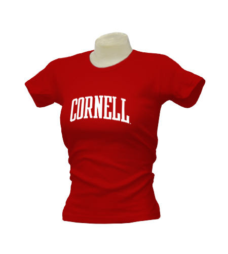 Cornell University Arched-Text Ladies American Apparel T-Shirt