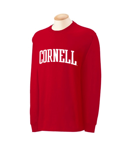 Cornell University Arched-Text Long Sleeve Shirt