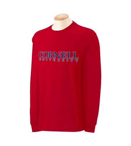 Cornell University Forced-Text Long Sleeve Shirt
