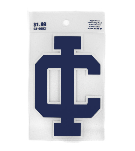 Ithaca College IC Static Cling Decal