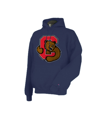 Cornell Bear With C Pull Over Hooded Sweatshirt