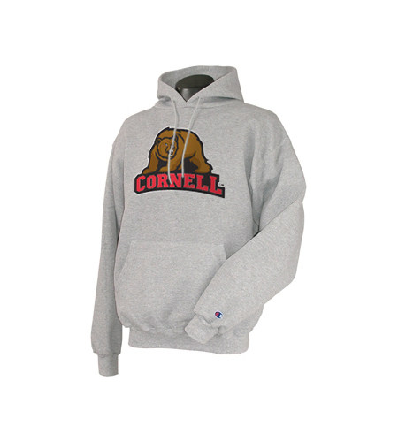 Cornell Bear Pull Over Hooded Sweatshirt