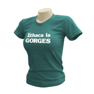 Ithaca is GORGES American Apparel Triblend Track Ladies T-Shirt