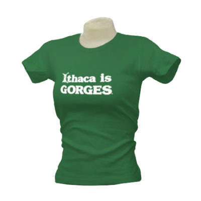 Ithaca is GORGES American Apparel Fine Jersey Ladies T-Shirt