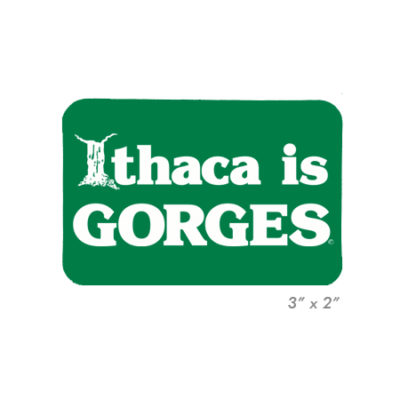 Ithaca is GORGES Small Sticker