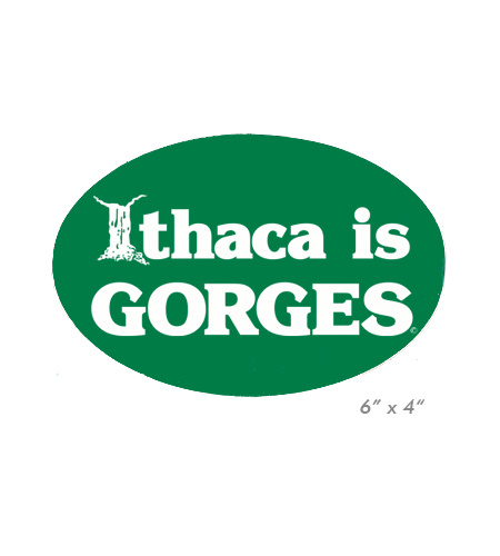 Ithaca is GORGES Oval Car Magnet