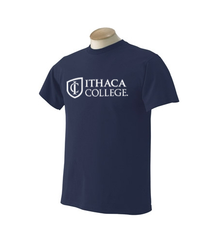 Ithaca College Two Line Shield T-Shirt