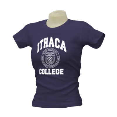 Ithaca College Classic Seal Ladies Tee