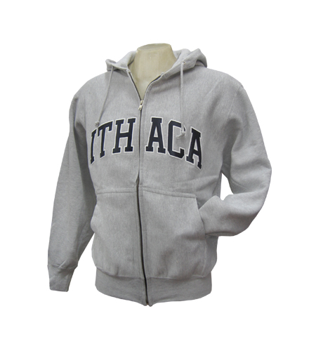 Ithaca Embroidered Zip-up Hooded Sweatshirt