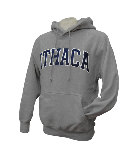 Ithaca Embroidered Pull Over Hooded Sweatshirt