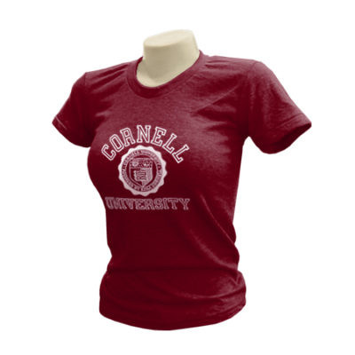 Cornell University Classic Seal Ladies Tri-Blend T-Shirt