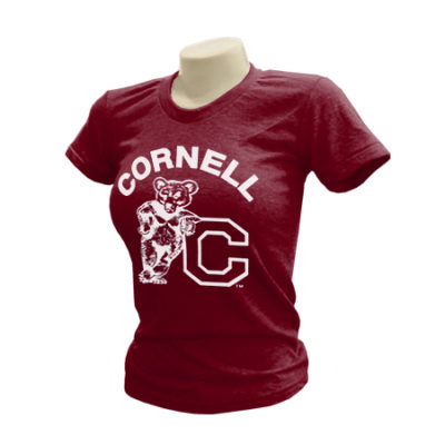 Cornell University Athletics Bear Ladies Tri-Blend T-Shirt