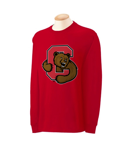 Cornell University Bear Through C Long Sleeve Shirt