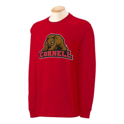 Cornell University 5 Color Bear Long Sleeve Shirt