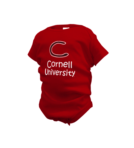Cornell University Scribbled C Onesie