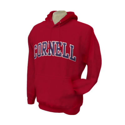 Cornell Embroidered Pull Over Hooded Sweatshirt