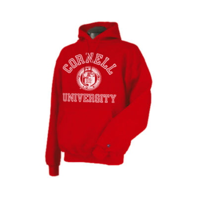 Cornell Seal Pull Over Hooded Sweatshirt