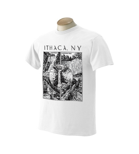 Ithaca NY Five Falls T-Shirt