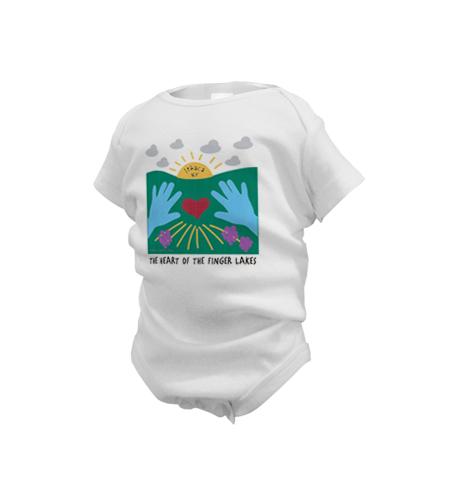 Heart of the Finger Lakes Onesie